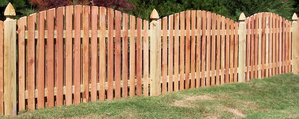 Attractive and durable natural cedar fencing